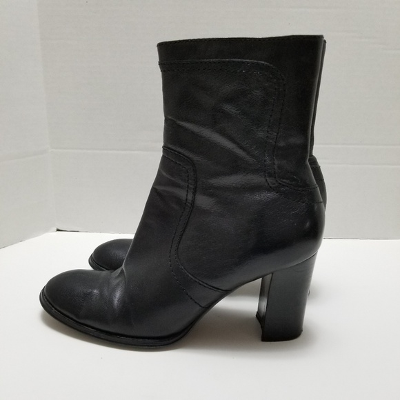 Boots Black Leather Booties Ankle Boots
